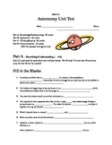 SES 4U Astronomy Unit Test