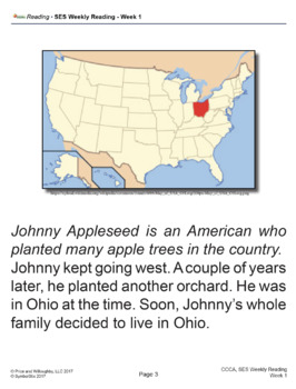 SES Weekly Reading-Johnny Appleseed