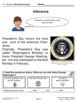 SES Weekly Reading-President's Day