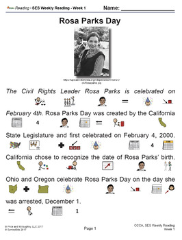 SES Weekly Reading: Rosa Parks Day