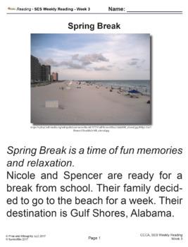 SES Weekly Reading- Spring Break