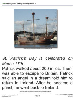 SES Weekly Reading-St. Patrick's Day