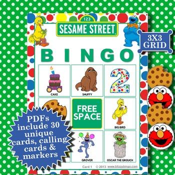 SESAME STREET 3x3 Bingo