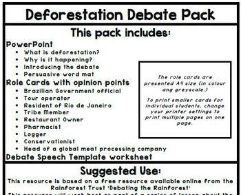 SESE: Deforestation Debate