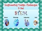 STEM Bundle of Five Engineering Design Challenges Set 1