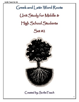 SET #2: Greek and Latin Roots for Middle and High School Students eBook SAT PREP