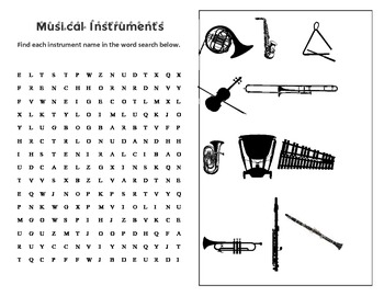 SET #2: note identification crosswords and a music symbol word search