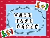 SET OF 20 1st/2nd GRADE MATH TASK CARDS! (3rd grade remediation)