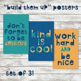 SET OF 3 - Build Them Up/Encouragement: Instant Download Motivation Educational
