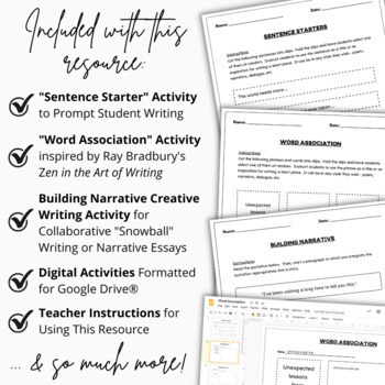 SET OF 3 | Creative Writing | Kinetic and Engaging Interactive Activities