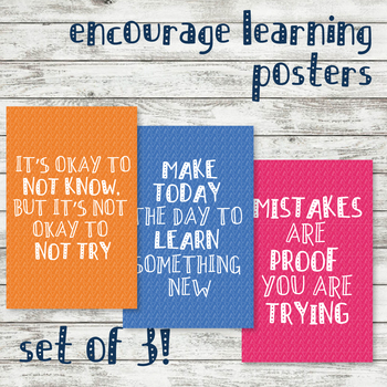 SET OF 3: Motivation Educational / Learning / Counselor / Guidance