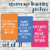 SET OF 3: Motivation Educational / Learning / Counselor /