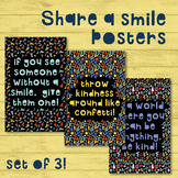 SET OF 3: Share a Smile Posters: Motivation Educational /