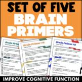 SET OF 5 Kinetic, Stimulating & Energizing BRAIN PRIMERS (Monday - Friday)