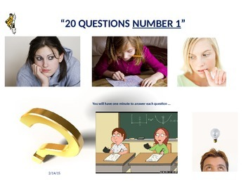 SET OF THREE 20 GROUP DISCUSSION QUESTIONS - POWERPOINT