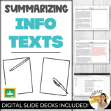 SET OF THREE Nonfiction Texts | Literacy Passages and Summarizing Worksheets