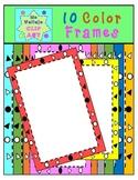 SET of 10 COLOR rectangular frames