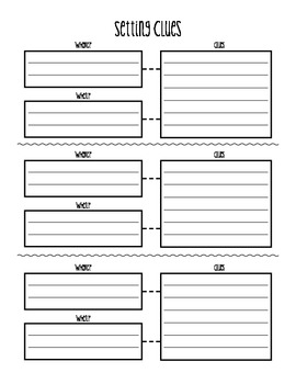 SETTING GRAPHIC ORGANIZER - USE YOUR CLUES!