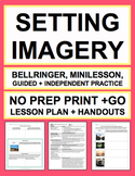 SETTING & SENSORY LANGUAGE LESSON PLAN NO PREP