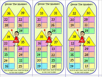 Addition of 1 & 2 Digit Numbers SETTLE THE NUMBERS Task Cards Fast Adding Skills