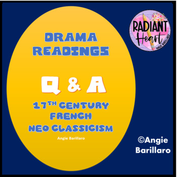 SEVENTEENTH CENTURY FRENCH THEATRE READING + Q & A