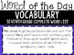 SEVENTH Grade DAILY Vocabulary Practice - WORD of the Day - ALL YEAR Pack