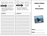 SF Reading Street Grade 4 Adelina's Whales Comprehension Trifold