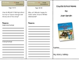 SF Reading Street Grade 4 Coyote School News Comprehension Trifold
