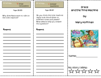 SF Reading Street Grade 4 Grace and Time Machine Comprehension Trifold