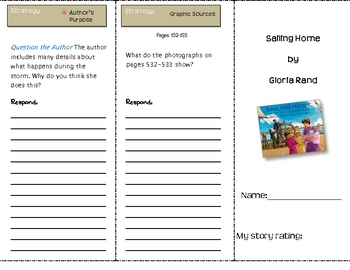 SF Reading Street Sailing Home Comprehension Trifold