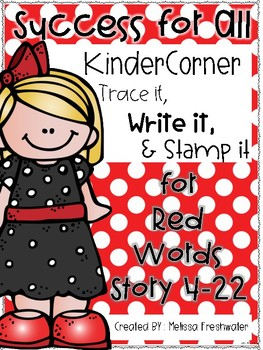 SFA KinderCorner Trace, Write, and Stamp RED WORD EDITION KIT