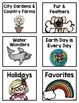 SFA KinderCorner Unit Labels