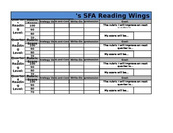 SFA Wings Student Data Trackers