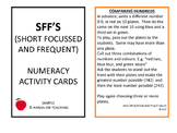 SFF's Numeracy Activity Cards
