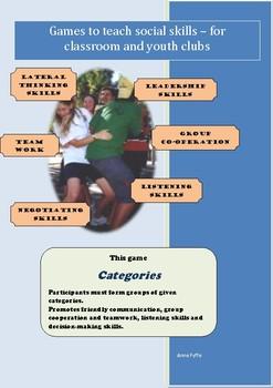 Social Games for Kids - Categories
