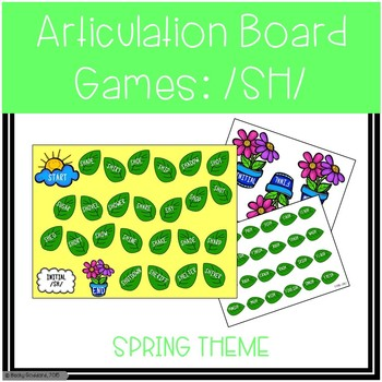 /SH/ Articulation Board Games - Spring Theme