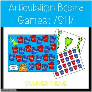 /SH/ Articulation Board Games - Summer Theme