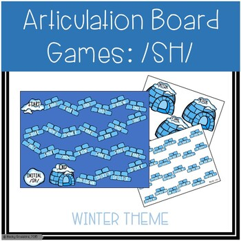/SH/ Articulation Board Games - Winter Theme