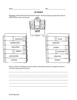 SH Articulation Worksheet Bundle