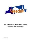 SH Articulation Worksheet Bundle