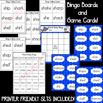 SH- Beginning Digraph [[Word Family GAMES!]]