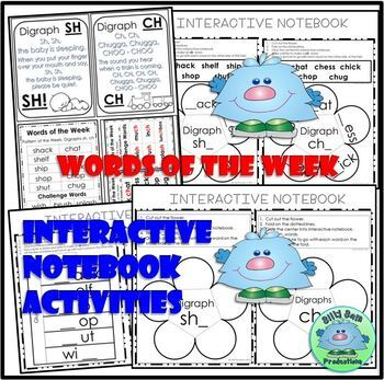 SH CH DIGRAPHS with SHORT VOWELS WORD WORK ACTIVITIES ASSESSMENTS