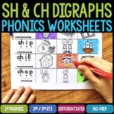 SH & CH Digraphs Worksheets & Activities (No-Prep Phonics Worksheets)