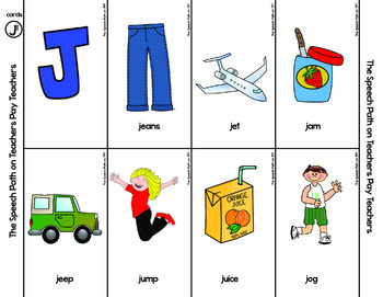 SH CH J Articulation Cards and Mini Books for Speech Therapy