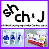 SH CH J Articulation Playing Cards, Mini Books, & Cariboo