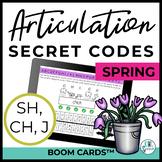 SH, CH, J Articulation Secret Codes BOOM Cards - Spring |