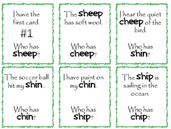 SH - CH Minimal Pairs Sound Production Practice