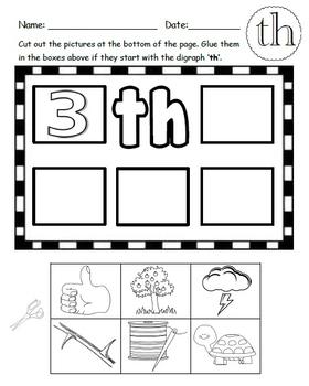 SH/ CH/ TH Digraph Worksheets Bundle!