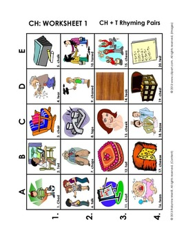 SH-CH-TH Vocabulary Grids