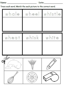 SH/ CH/ TH/ WH Digraph Worksheets Bundle!